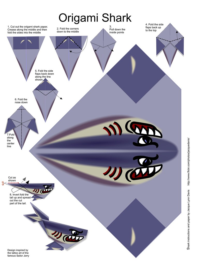 Instructions For Origami Shark