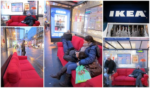 ikea in paris ikea has given couches to wait for the bus flickr. Black Bedroom Furniture Sets. Home Design Ideas