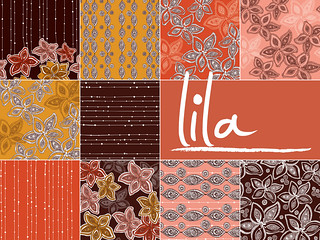 Lila ~ New patterns set~ | by valentinadesign