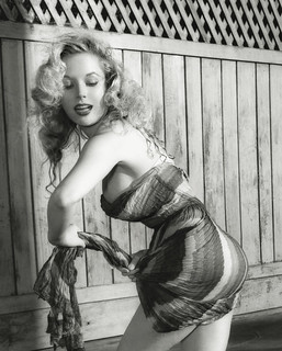 Betty Brosmer-First Supermodel Cover Girl Highest Paid Model on over 200 Covers in the Mid 1950's wet dress in pool- World Famous Hourglass Figure | by rcamsila
