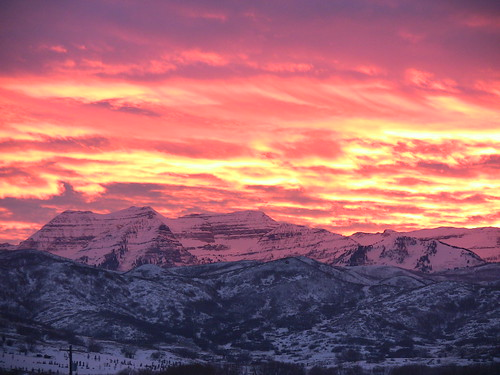 Mount Timpanogos Sunset From Soldier Hollow | by villainousturtle