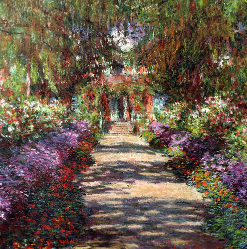 Claude Monet - Garden in Giverny at Belvedere Museum Vienna Austria | by mbell1975