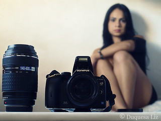 Olympus E-520 in the mirror | by -Náyade-