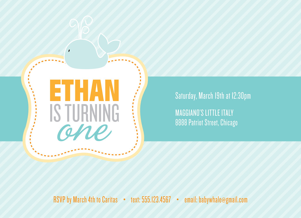 Ethan\'s 1st Birthday Invitation | mlktandplkdts | Flickr