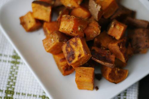 Roasted Sweet Potatoes with Garlic and Ginger | www.sarahscu ...