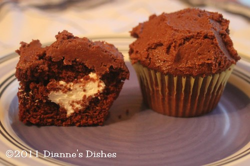 Glorious Chocolate Cream Filled Cupcakes | by Dianne's Dishes