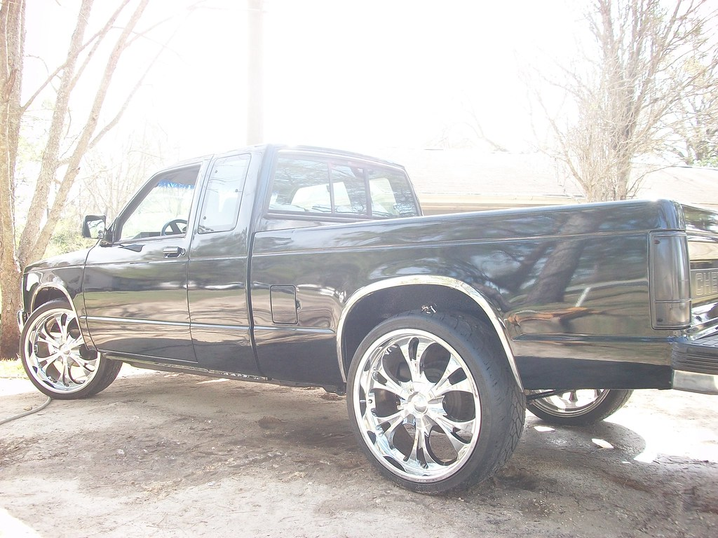 1993 chevy s10 ext cab pickup on 22 s blacked out chrome flickr