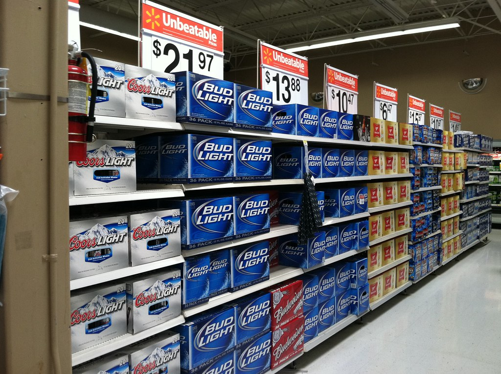 ... Beer Aisle (warm), Walmart, NASCAR | By Retailpics