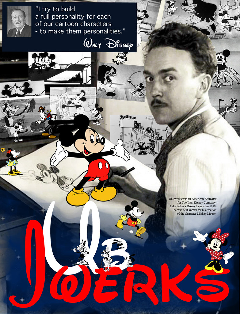 Disney Animator Ub Iwerks Designer Poster Series Depicting Flickr