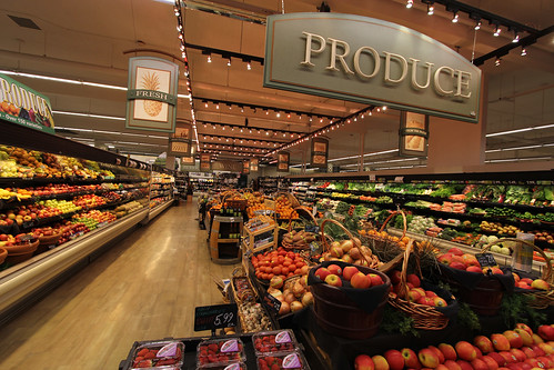 Interior Grocery Store Decor | Produce Area Decor |  Market Decor Design | Thriftway Produce Area | Grocery Store Decor Design | Ralph's Thriftway | by I-5 Design & Manufacture