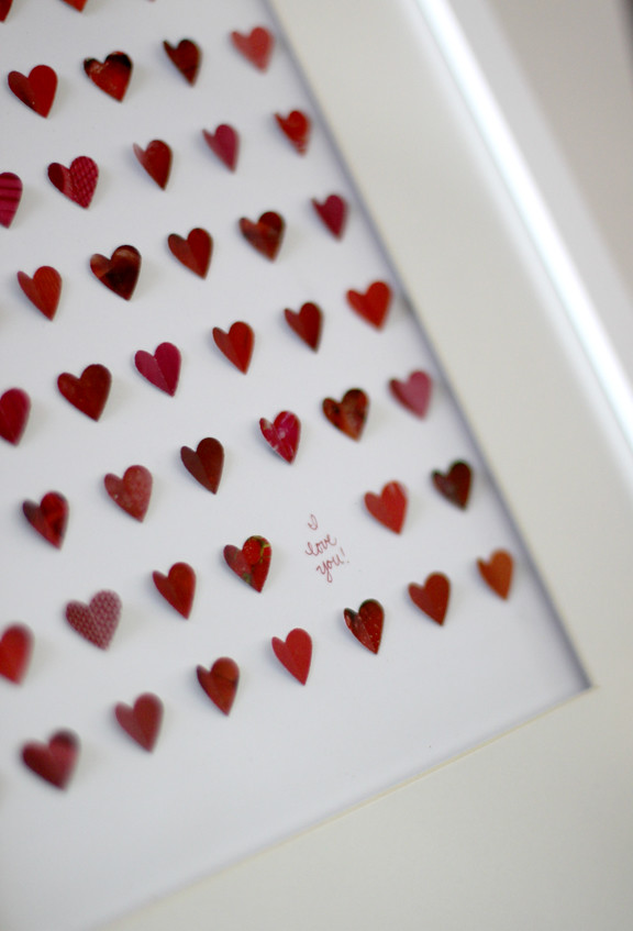 Framed hearts 2 | Using magazine scraps and a heart shaped p… | Flickr
