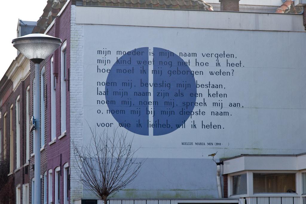 Wall Poem Leiden Neeltje Maria Min Poet Neeltje Maria Mi