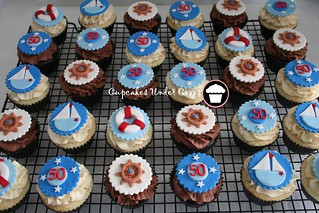 -50th nautical  cupcakes- | by Cupcakes Under Cover