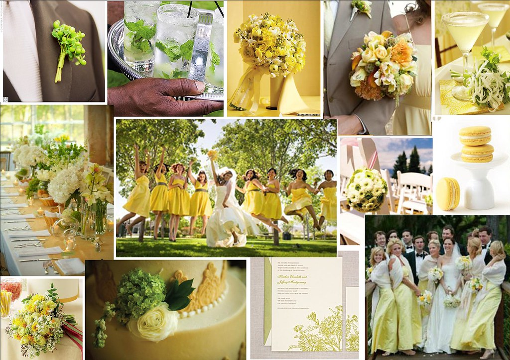 Crisp Yellow Green Wedding Theme For More Stylish Crea Flickr