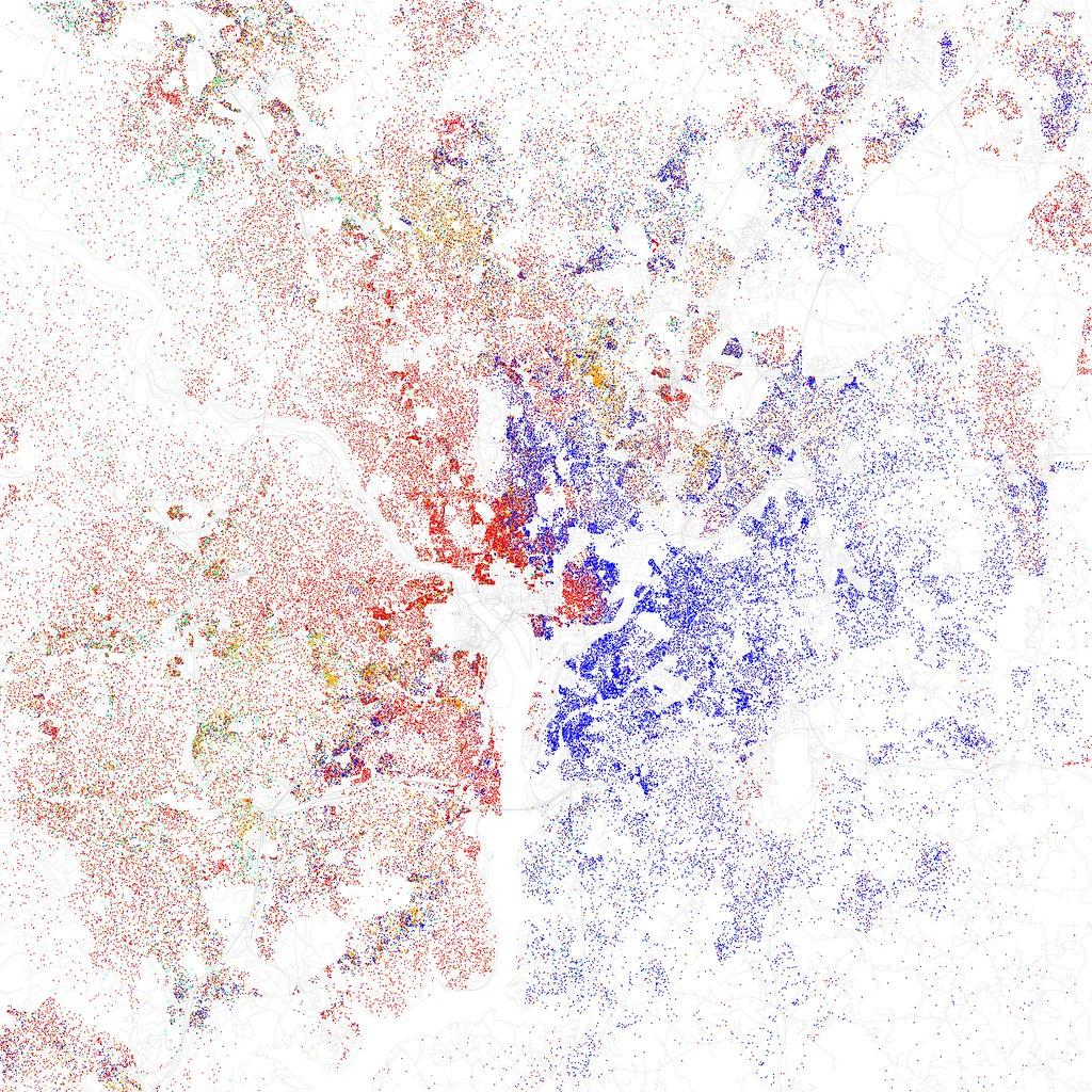 Race And Ethnicity  Washington DC Maps Of Racial And Flickr - Washington dc map by race