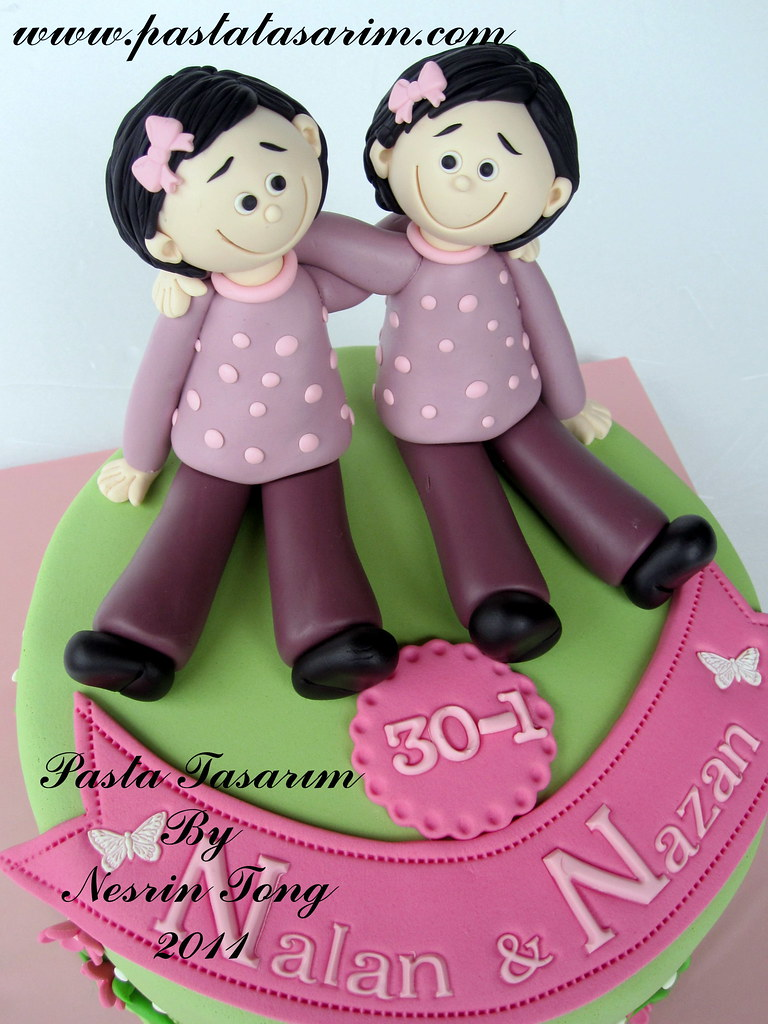 TWINS SISTERS BIRTHDAY CAKE