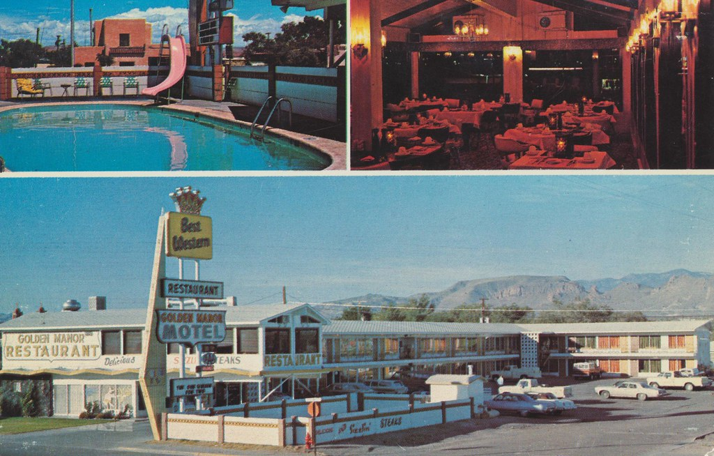 Golden Manor Motel and Delightful Roof-Top Restaurant - Socorro, New Mexico