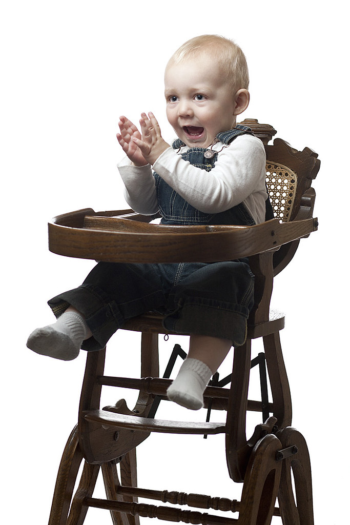 ... Baby Clapping While Perched in Antique High-Chair | by mikegrados - Baby Clapping While Perched In Antique High-Chair We Tried… Flickr