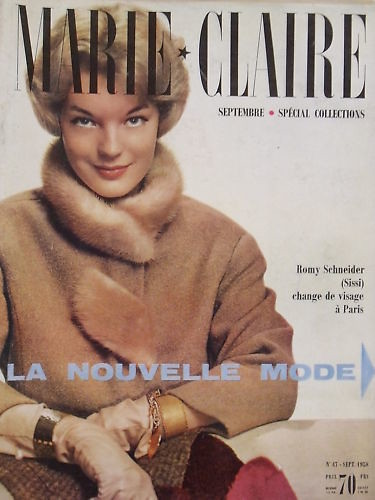 marie claire september 1959 cover actress romy schneider i flickr. Black Bedroom Furniture Sets. Home Design Ideas