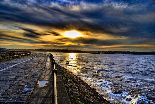 Towards South Shields from the Pier at Sunset | by Jennie Anderson