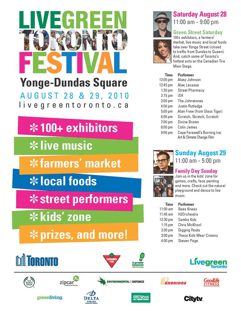 Live Green Toronto Festival - 2010   Toronto ca - Toronto's