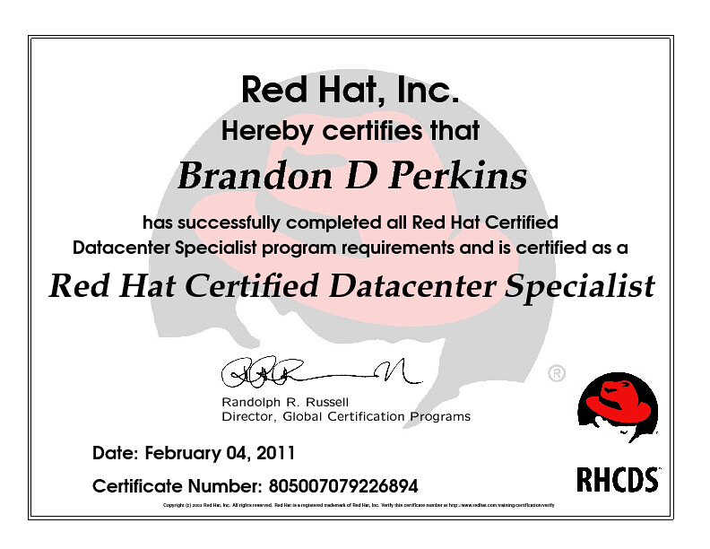 Red Hat Certified Datacenter Specialist | Red Hat, Inc. Hereb… | Flickr