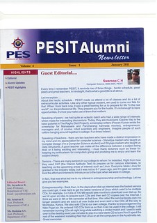 pesit_alumni_newsletter_1 | by Swaroop C H