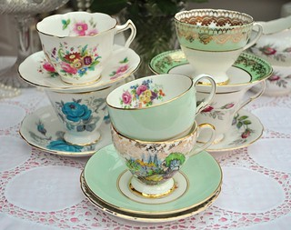 Pretty Vintage Teacups and Saucers | by cake-stand-heaven