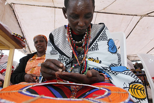 Maasai women make, sell and display their bead work | by World Bank Photo Collection