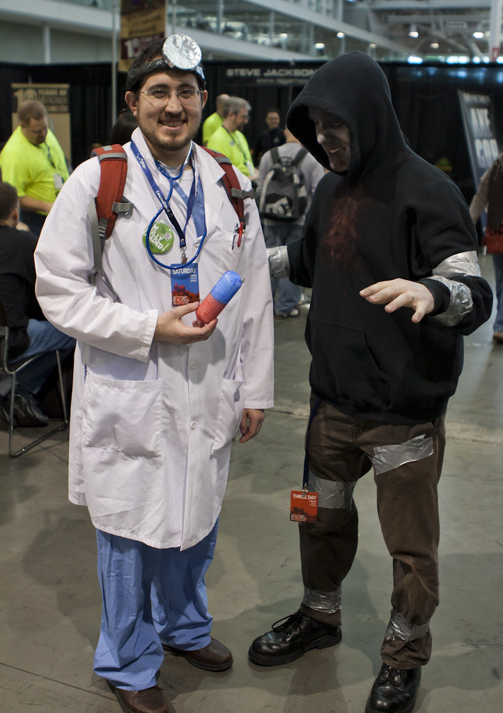 cosplay dr mario and hunter yuho flickr