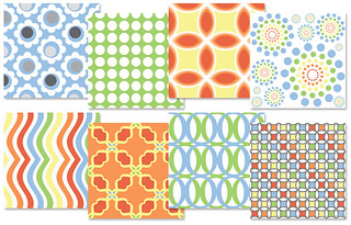 Jardin - Spoonflower Swatches | by Fresh Lemons : Faith