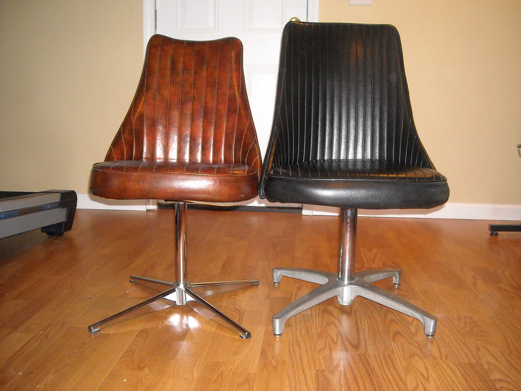 chromcraft chairs i believe the brown one is older than th flickr