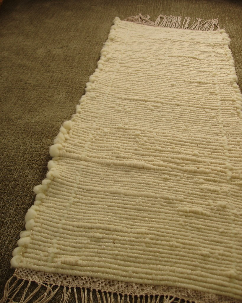 Woven Wool Rug Weft Is Rambouillet Roving About 4 Feet I