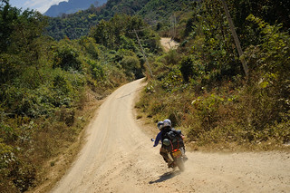 Motorcycling on Lao Dirt Road | by goingslowly