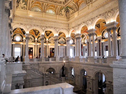 US Library of Congress - The Great Hall interior - Washington DC | by mbell1975