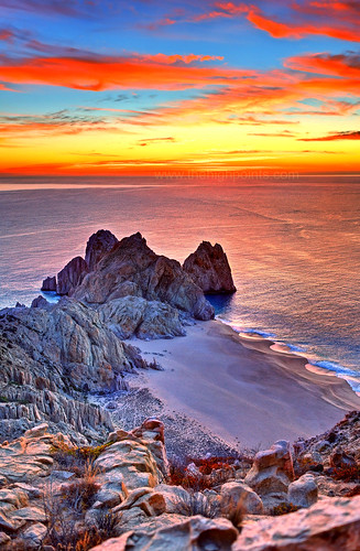 Lands End Sunrise Sunrise Over The Sea Of Cortez Lands