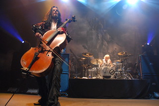 Perttu Kivilaakso and Mikko Siren of Apocalyptica | by Metal Chris