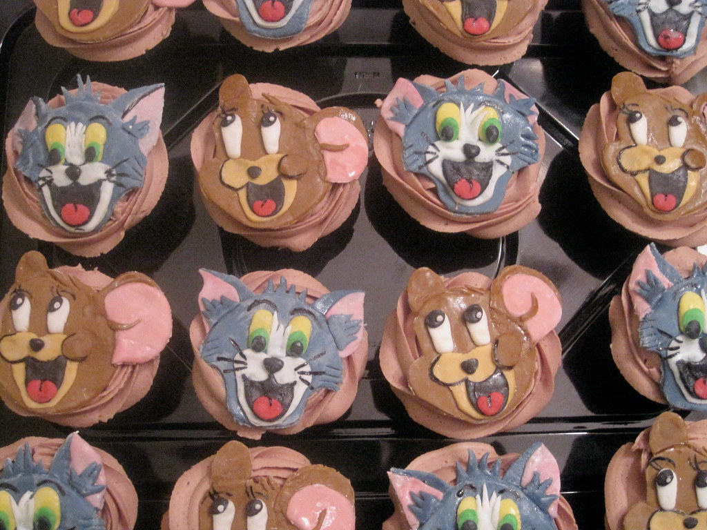 Tom Jerry Cupcakes wguillot Flickr