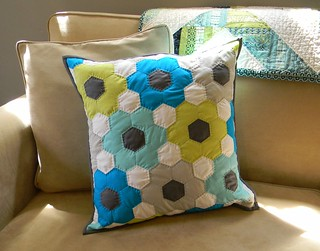 Solid Hexagon Pillow | by teaginny