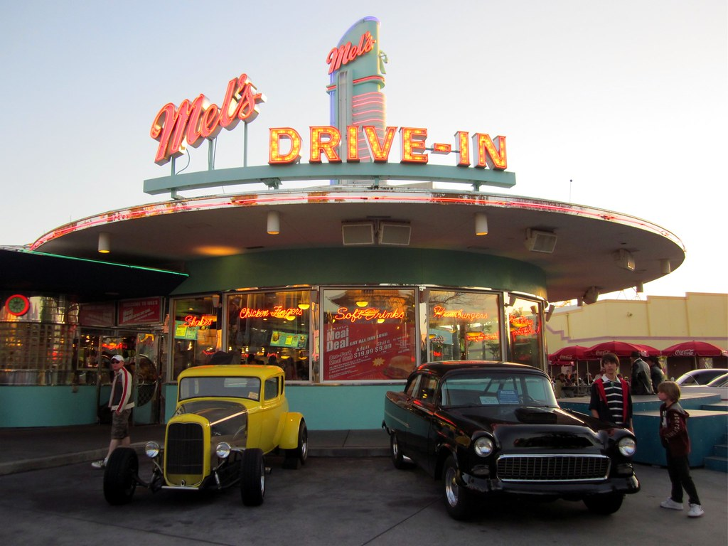 Mels Drive In Diner Universal Studios Orlando Fl By Brian P Bay City