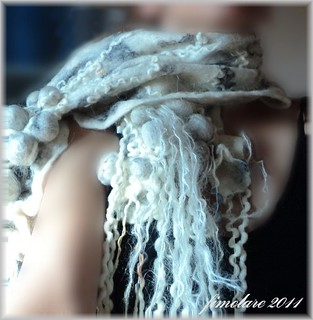 Wet Felted Scarf | by fimolare