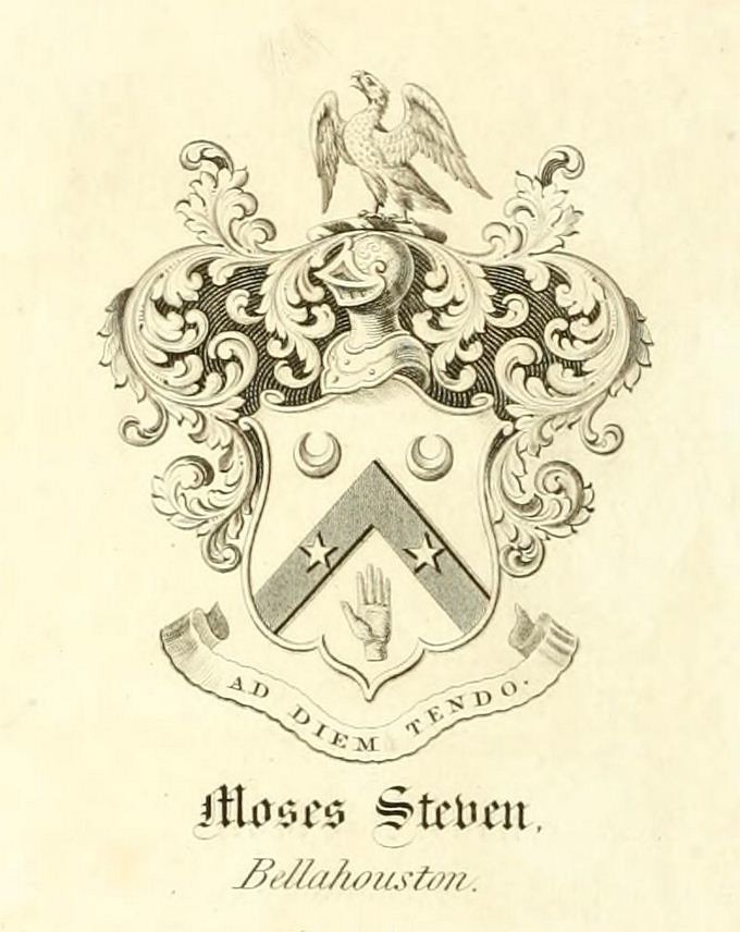 Bookplate Of Moses Steven Merchant Of Glasgow 1806 1871 Flickr