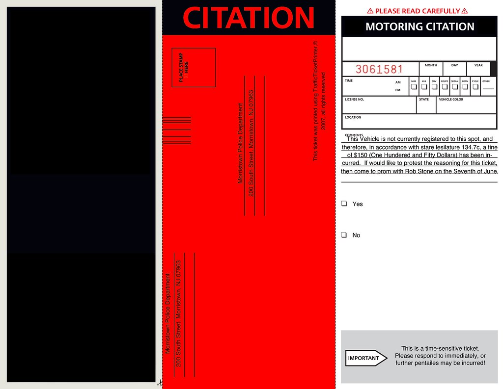 Prom Parking Ticket Well I needed a creative way to ask a – Prom Ticket Template