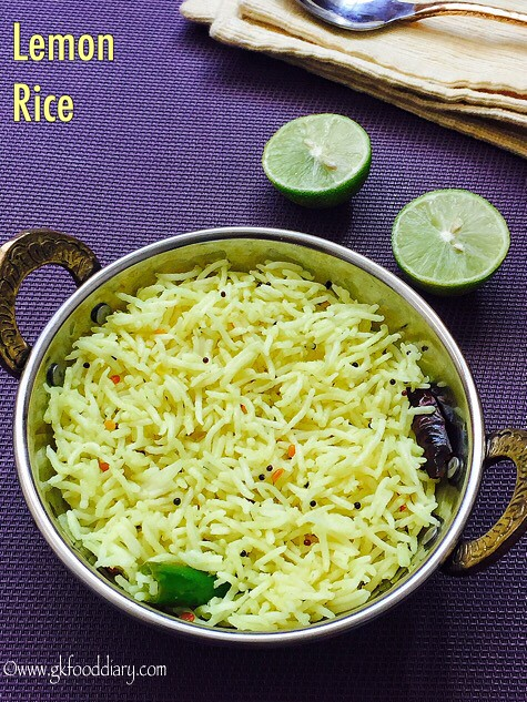 Lemon Rice Recipe for Toddlers and Kids2