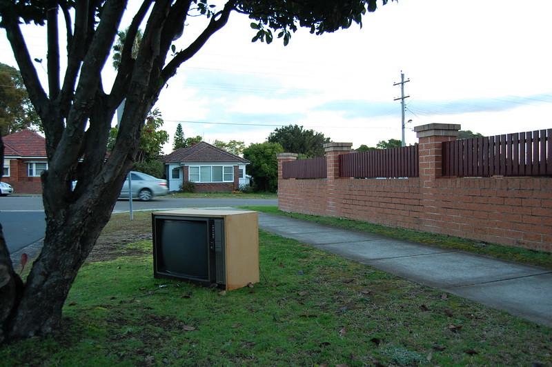 TV in Yard