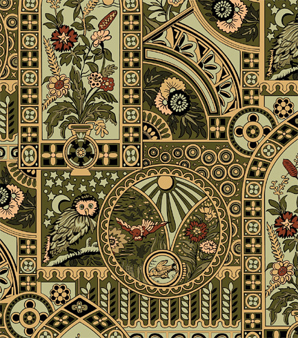 ... Nocturnal Owl Wallpaper, Aesthetic Interiors | By Eastlake Victorian
