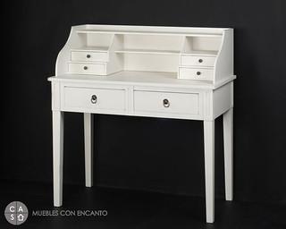 Escritorio blanco muebles con encanto flickr - Muebles con encanto ...