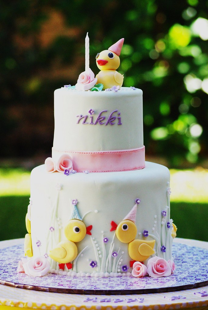 Nikkis 1st Birthday Cake A Duck Theme Birthday Cake For L Flickr
