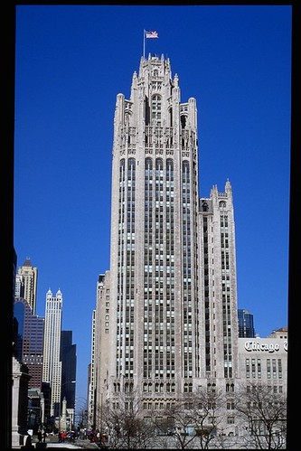 Chicago Tribune Tower: view from south | Creator: Howells ...