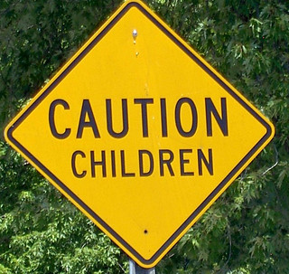 Caution children sign | by Command + N